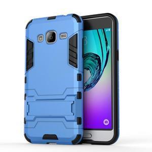 Outdoor odolný obal na Samsung Galaxy J3  (2016) - světlemodré - 2