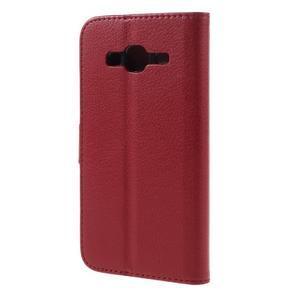 Peněženkové pouzdro na mobil Samsung Galaxy J3  (2016) - červené - 2