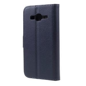 Peněženkové pouzdro na mobil Samsung Galaxy J3  (2016) - tmavěmodré - 2