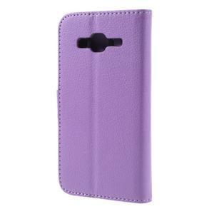 Peněženkové pouzdro na mobil Samsung Galaxy J3  (2016) - fialové - 2