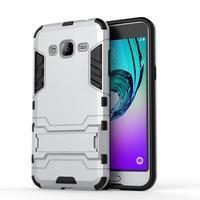 Outdoor odolný obal na Samsung Galaxy J3 (2016)- stříbrné - 2/3