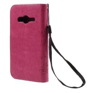 Butterfly pouzdro na mobil Samsung Galaxy Trend 2 Lite - rose - 2