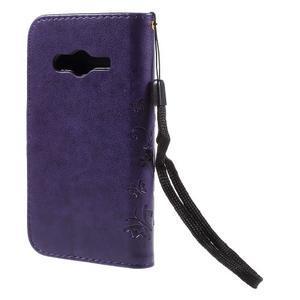 Butterfly pouzdro na mobil Samsung Galaxy Trend 2 Lite - fialové - 2