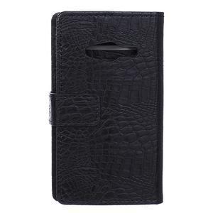 Croco peněženkové pouzdro na Samsung Galaxy Trend 2 Lite - černé - 2
