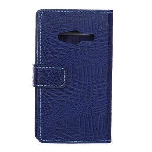 Croco peněženkové pouzdro na Samsung Galaxy Trend 2 Lite - tmavěmodré - 2