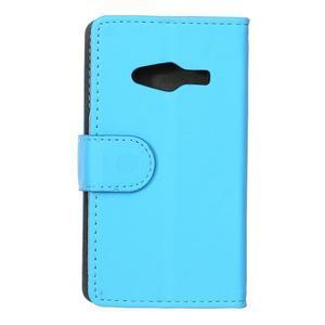 Wall peněženkové pouzdro na Samsung Galaxy Trend 2 Lite - modré - 2