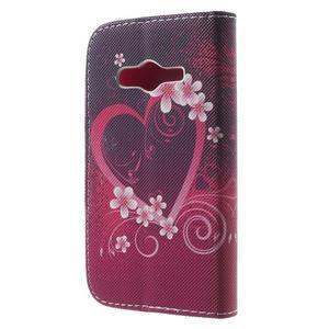 Peněženkové pouzdro na Samsung Galaxy Trend 2 Lite - srdce - 2