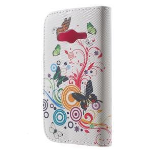 Peněženkové pouzdro na Samsung Galaxy Trend 2 Lite - motýlci - 2