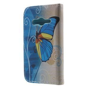 Motive pouzdro na mobil Samsung Galaxy Trend 2 Lite - modrý motýl - 2