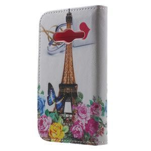 Motive pouzdro na mobil Samsung Galaxy Trend 2 Lite - Eiffelka a květiny - 2