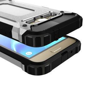 Armory odolný obal na mobil Samsung Galaxy J1 (2016) - stříbrný - 2
