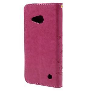 Butterfly koženkové pouzdro na Microsoft Lumia 550 - rose - 2