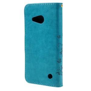 Butterfly koženkové pouzdro na Microsoft Lumia 550 - modré - 2