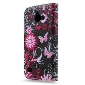 Stylové pouzdro na mobil Huawei Ascend Y550 - kouzelní motýlci - 2
