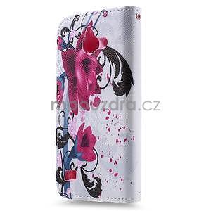 Stylové pouzdro na mobil Huawei Ascend Y550 - květy - 2