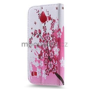 Stylové pouzdro na mobil Huawei Ascend Y550 - kvetoucí větvička - 2