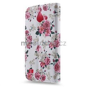 Stylové pouzdro na mobil Huawei Ascend Y550 - květinová koláž - 2