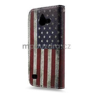 Stylové pouzdro na mobil Huawei Ascend Y550 - US vlajka - 2