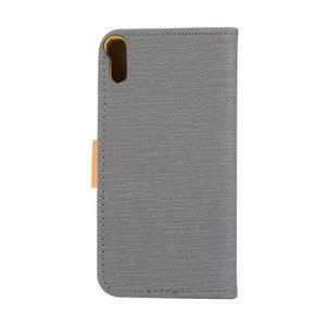 Knížkové pouzdro na mobil Lenovo Vibe Shot - šedé - 2
