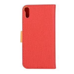Knížkové pouzdro na mobil Lenovo Vibe Shot - červené - 2