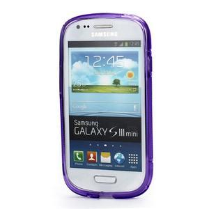 Fialové gelové pouzdro pro Samsung Galaxy S3 mini /i8190 - 2