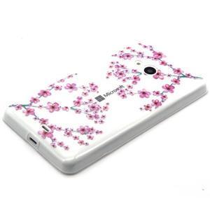 Gelový obal na mobil Microsoft Lumia 535 - květy švestky - 2