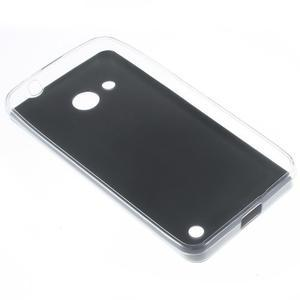 Gelový obal s jemnou koženkou na Microsoft Lumia 550 - černý - 2