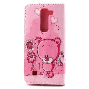 Peneženkové pouzdro na mobil LG G4c - medvídek - 2