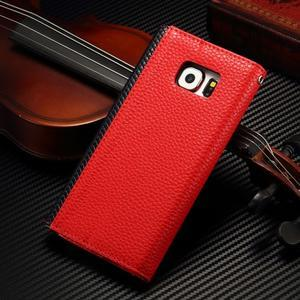 Breck peněženkové pouzdro na Samsung Galaxy S6 - červené/černé - 2