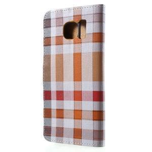 Módní stylové pouzdri na Samsung Galaxy S6 - oranžové - 2