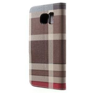 Módní stylové pouzdri na Samsung Galaxy S6 - hnědé - 2