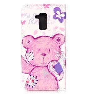 Emotive PU kožené pouzdro na mobil Honor 7 Lite - medvídek - 2