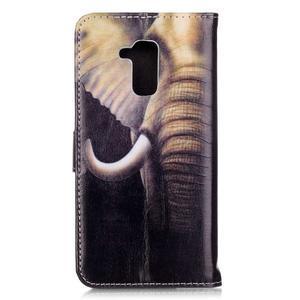 Emotive PU kožené pouzdro na mobil Honor 7 Lite - slon - 2