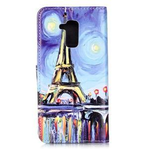 Emotive PU kožené pouzdro na mobil Honor 7 Lite - Eiffelovka - 2