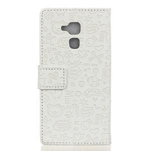 Cartoo pouzdro na mobil Honor 7 Lite - bílé - 2