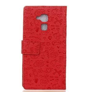 Cartoo pouzdro na mobil Honor 7 Lite - červené - 2