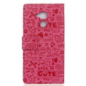 Cartoo pouzdro na mobil Honor 7 Lite - rose - 2