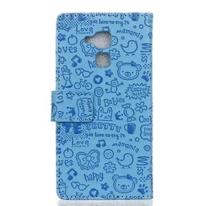 Cartoo pouzdro na mobil Honor 7 Lite - modré - 2