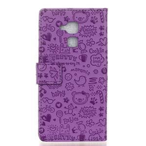 Cartoo pouzdro na mobil Honor 7 Lite - fialové - 2