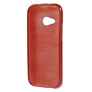 Broušený gelový obal na HTC One mini 2 - červený - 2