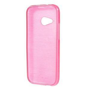Broušený gelový obal na HTC One mini 2 - rose - 2