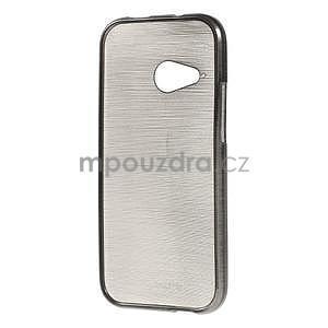 Broušený gelový obal na HTC One mini 2 - černý - 2