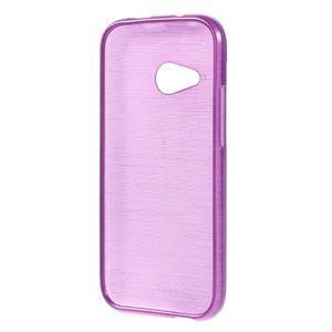 Broušený gelový obal na HTC One mini 2 - fialový - 2