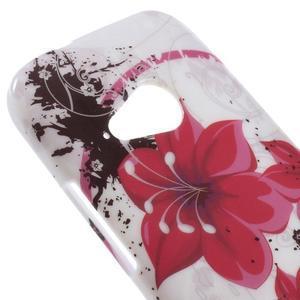 Gelový kryt na HTC One mini 2 - červené květiny - 2