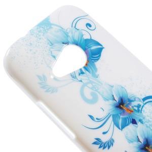 Gelový kryt na HTC One mini 2 - modrá lilie - 2