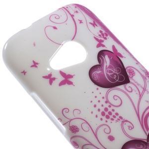 Gelový kryt na HTC One mini 2 - srdíčka - 2