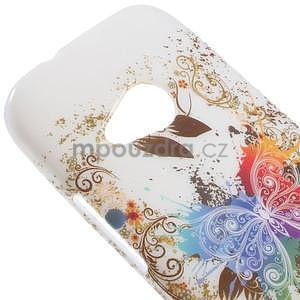 Gelový kryt na HTC One mini 2 - barevní motýlci - 2