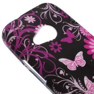 Gelový kryt na HTC One mini 2 - květiny a motýlci - 2