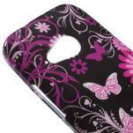 Gelový kryt na HTC One mini 2 - květiny a motýlci - 2/5