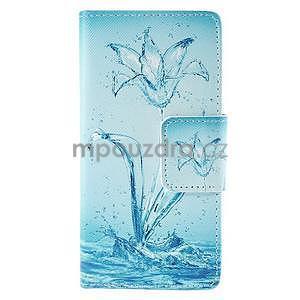 Peněženkové pouzdro Huawei Ascend P8 - vodní květ - 2